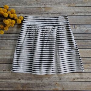 The Limited Striped Skater Skirt with Pockets